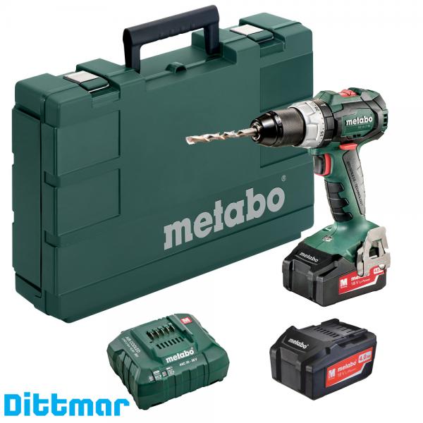 *Metabo 18-V/4,0Ah Akku-Bohrschrauber BS 18 LT BL (2x18 V/4,0 Ah), 602325500