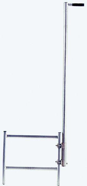 STABILO Einstiegshilfe, Haltestange mit einseitigem Griff, Stahl verzinkt, Holmbefestigung, 816467