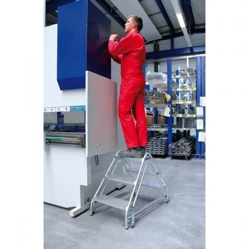 Guenzburger Aluminium-Arbeitspodest beidseitig begehbar, 2 x 2 Stufen, 50059