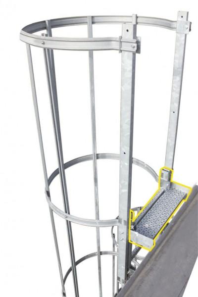 STABILO Ortsfeste Leitern, Systemteile, Ausstiegstritt 250 mm, 836281