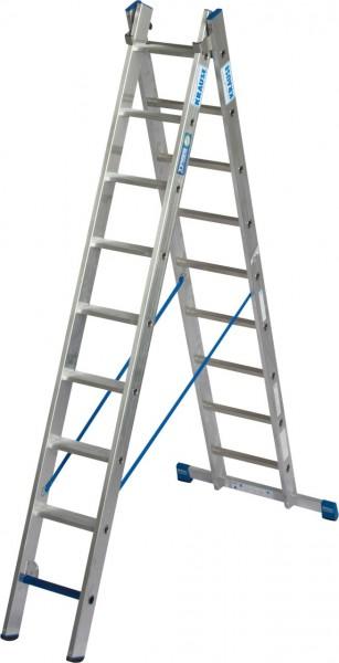 STABILO MehrzweckLeiter + S ( Sicherheit ) 2x9 Sprossen/Stufen, 131638