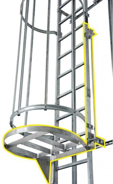 STABILO Ortsfeste Leitern, Systemteile, Zugangssperre für Stahlnotabstiegsleiter, 837035