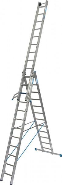 STABILO VielzweckLeiter + S (Sicherheit) 3x12 Sprossen/Stufen, 131676