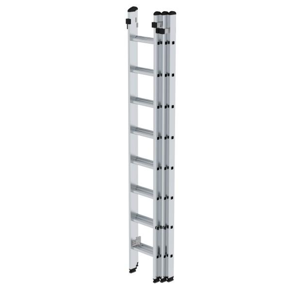 Günzburger Aluminium-Schiebeleiter 3 x 8 Sprossen, 20308