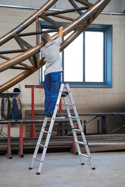 Günzburger Aluminium-Stehleiter 8 Sprossen, 33016