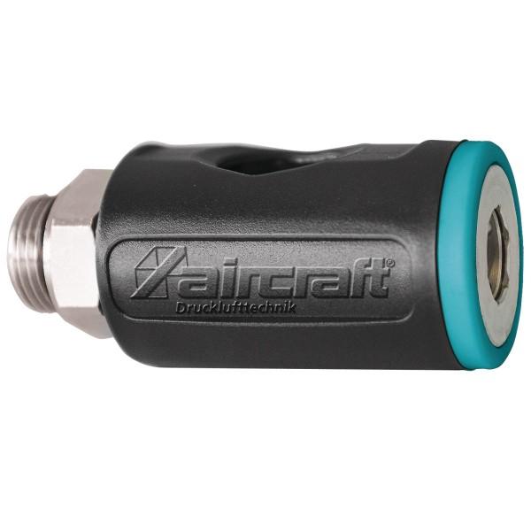 Stecknippel Stahl 1//4 AG Druckluft Zubeh/ör f/ür die Druckluftanlage