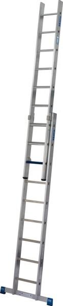 STABILO SchiebeLeiter + S ( Sicherheit ) 2x9 Sprossen/Stufen, 131614