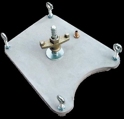 Eibenstock Vakuumplatte für Dübelfuß mit Dichtring, 340 x 290 mm, max. Bohr Ø 162 mm, 35851000