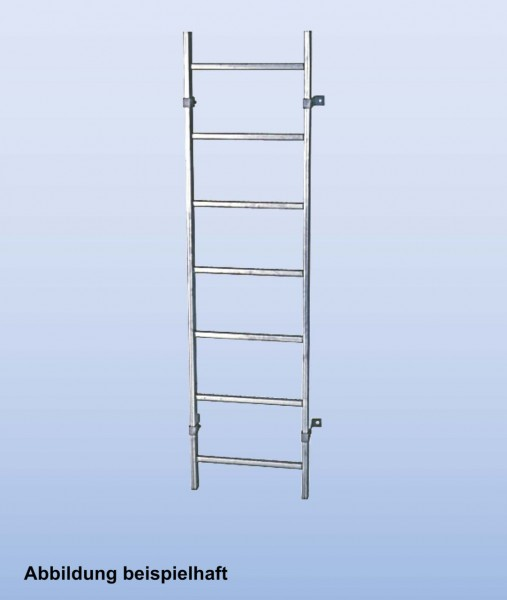 SchachtLeitern aus Stahl, feuerverzinkt, Lichte Weite 300 mm, Länge 1,12 m, Außenbreite 340 mm, 4 Sprossen, Artikel-Nr.: 815798