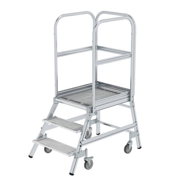 Günzburger Aluminium-Podestleiter,einseitig begehbar, 3 Stufen, 51103