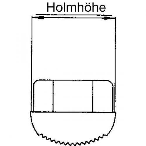 Guenzburger Innenschuh Sp+St Leitern Holm 58x25mm, 19602