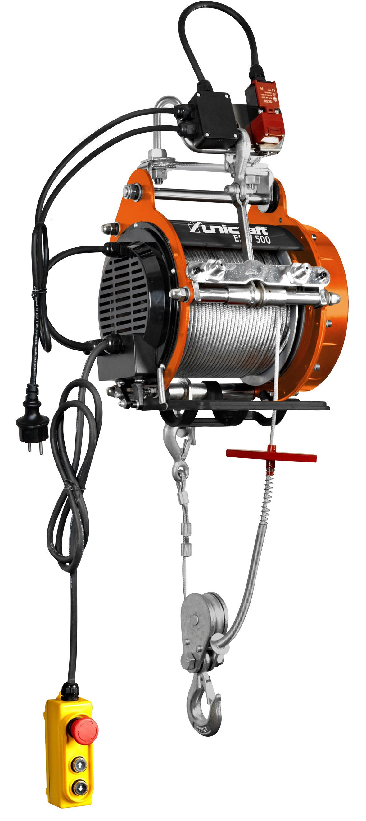 unicraft esw 500 elektrische seilwinde 6199500 dittmar. Black Bedroom Furniture Sets. Home Design Ideas