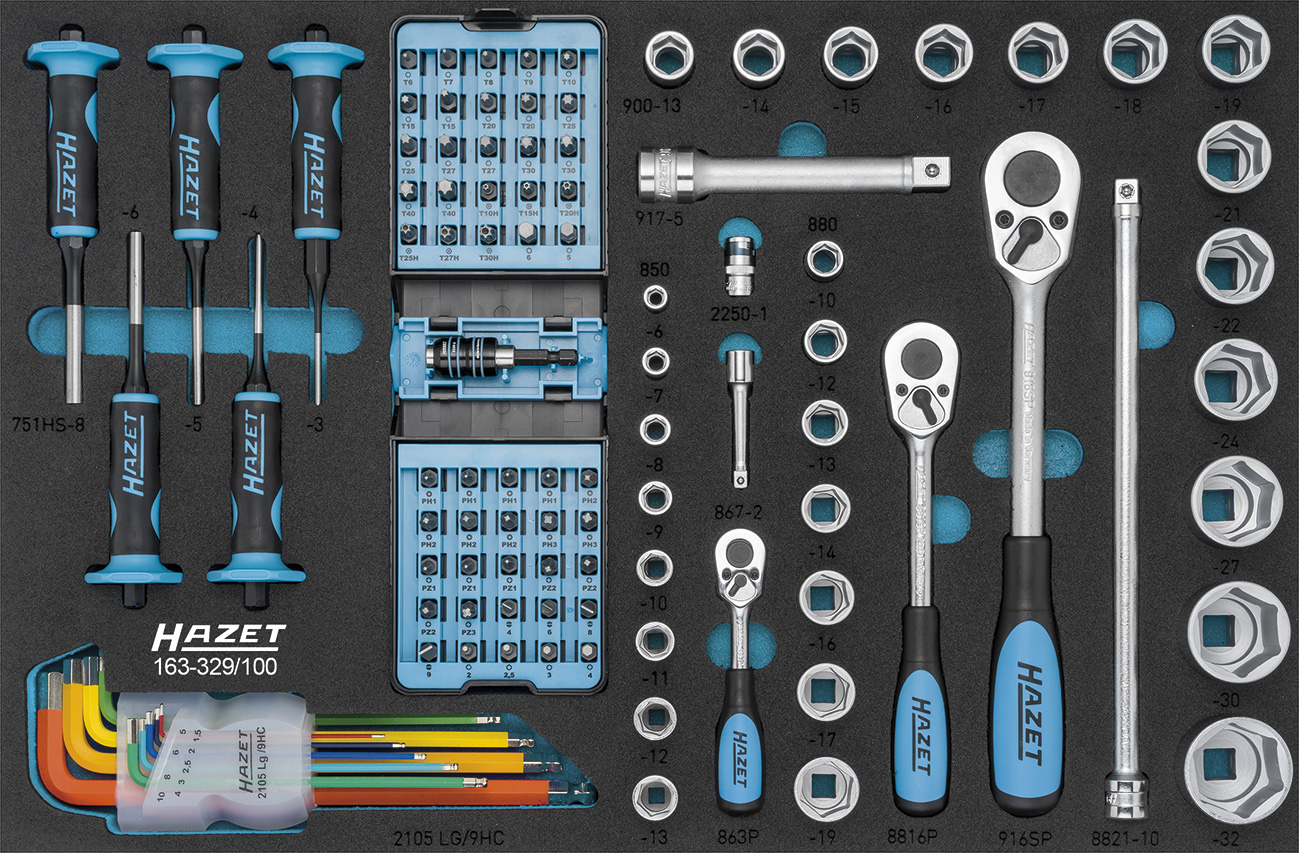 Hazet Werkzeug-Sortiment 163-329/100 | Dittmar - Werkzeuge