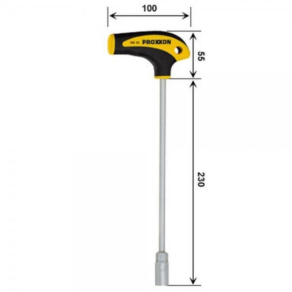 Proxxon L-Griff-Schraubendreher Außensechskant HX 10 mm, 22482