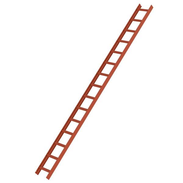 Günzburger Dachleiter, 15 Sprossen, Rot, 11142