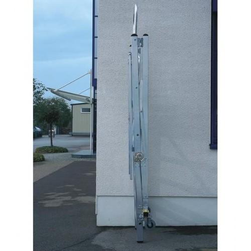 Guenzburger Aluminium-Podestleiter fahrbar, klappbar, 6 Stufen, 52306