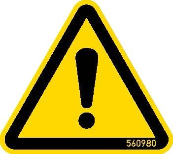 STABILO Hinweisschild Warnschild Gefahrenstelle 50mm, 5 Stück, 202031