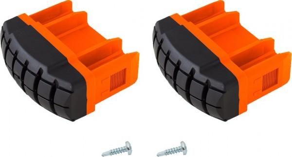 MONTO Fußstopfen (Paar) für Sprossen-Gelenk-TeleskopLeiter TeleVario mit 4 Holmverlängerungen, orange, Artikel-Nr.: 201232