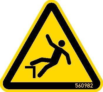 STABILO  Hinweisschild Warnschild Absturzgefahr 50mm, 5 Stück, 202055