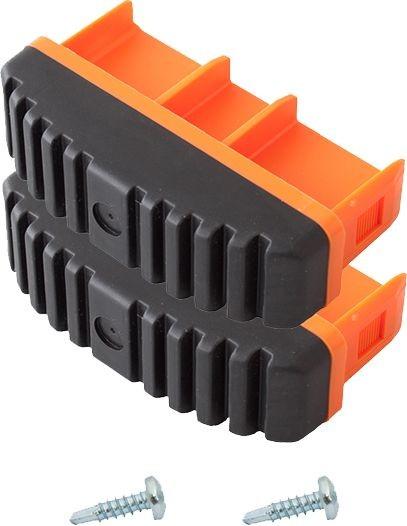 MONTO Fußstopfen (Paar) 97x25 mm, orange, für MONTO Anlege-, Schiebe-, Seilzug- und VielzweckLeitern, Artikel-Nr.: 211170