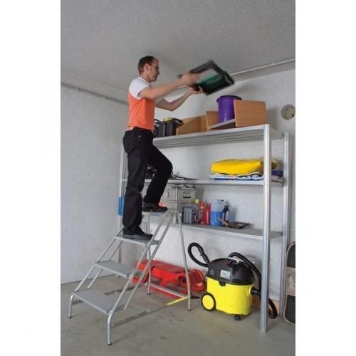 Guenzburger Aluminium-Arbeitspodest einseitig begehbar, 3 Stufen, 50051