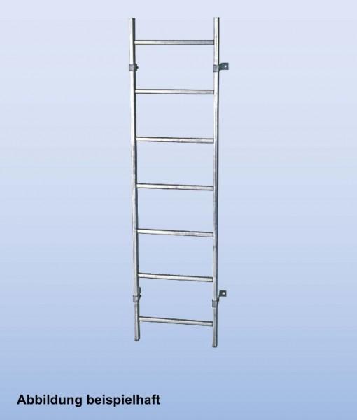 SchachtLeitern aus Edelstahl V4A, Lichte Weite 300 mm, Länge 2,52 m, Außenbreite 340 mm, 9 Sprossen, Artikel-Nr.: 816085