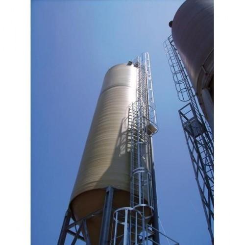 Guenzburger Einzuegige Steigleiter mit Rueckenschutz Aluminium eloxiert, 500120