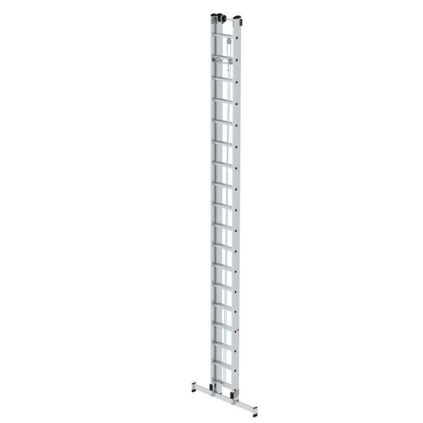 Günzburger Aluminium-Seilzugleiter 2-teilig mit nivello-Traverse 2 x 18 Sprossen, 21318