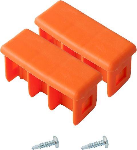 MONTO Kopfstopfen (Paar) 64x25 mm, orange, für MONTO Schiebe- und MehrzweckLeiter, 211200