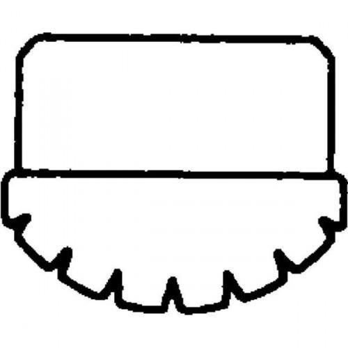 Guenzburger Innenschuh Stahl-Regalleiter grau 30x20, 19612