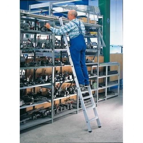 Guenzburger Aluminium-Regalleiter, einhaengbar, 16 Stufen, 41316