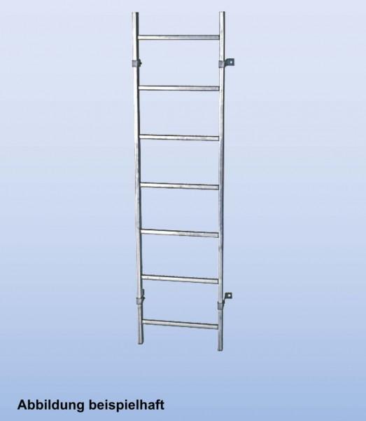SchachtLeitern aus Stahl, feuerverzinkt, Lichte Weite 300 mm, Länge 2,24 m, Außenbreite 340 mm, 8 Sprossen, Artikel-Nr.: 815835
