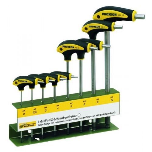 Proxxon L-Griff-Schraubendrehersatz 8-tlg., HEX mit Halter, 22650