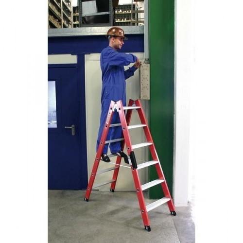 Guenzburger Kunststoff-Stehleiter, 2 x 12 Stufen, 34124