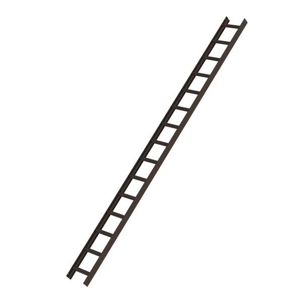 Günzburger Dachleiter, 15 Sprossen, Braun, 11143