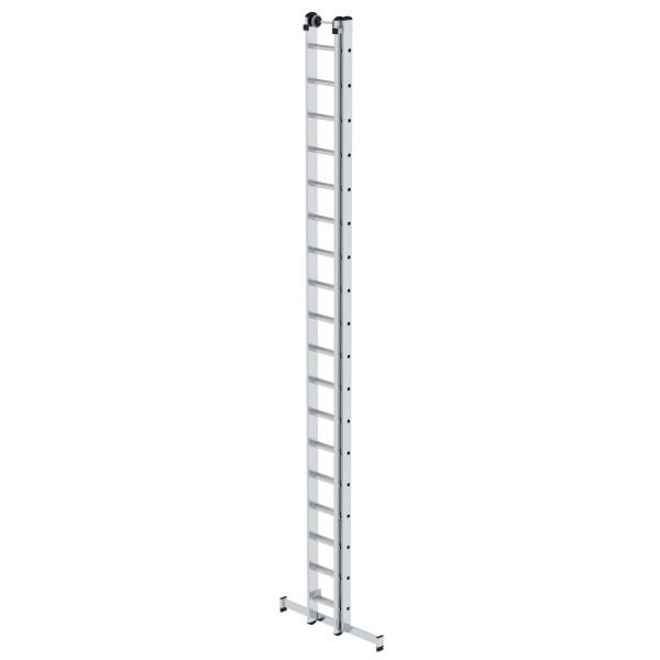 Günzburger Aluminium-Schiebeleiter mit nivello-Traverse 2x18 Sprossen, 20418