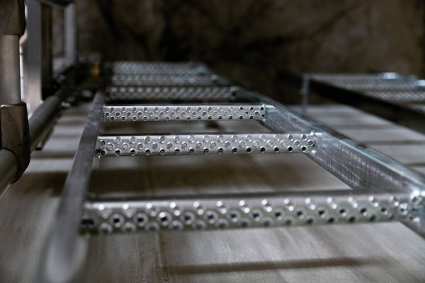 Günzburger Schachtleiter aus Stahl, feuerverzinkt, 14 Sprossen, 61014