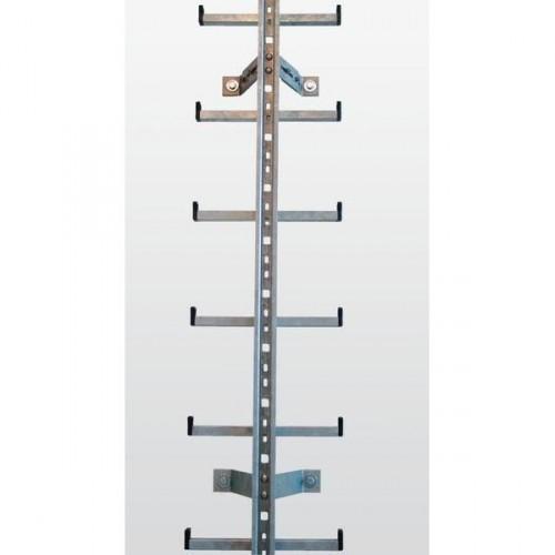 Guenzburger Einholmleiter Laenge 1,96m Edelstahl, 77554