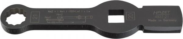 HAZET Schlag-Ringschlüssel (Doppel-6kt.) mit 2 Schlagflächen 4937-21