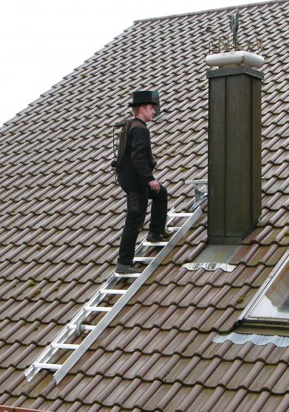 Günzburger Dachleiter, 15 Sprossen, Aluminium, 11141