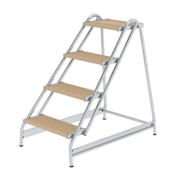 Günzburger Aluminium-Arbeitspodest einseitig begehbar, 4 Stufen, 50058