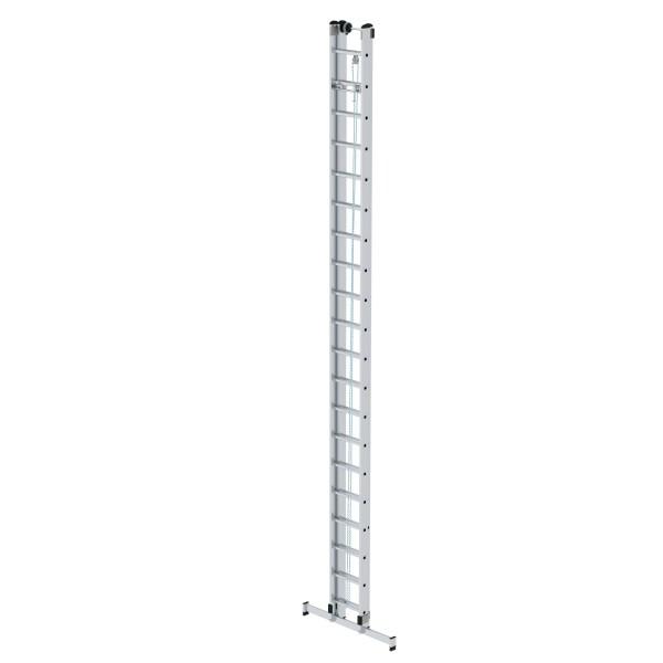 Günzburger Aluminium-Seilzugleiter 2-teilig mit nivello-Traverse 2 x 20 Sprossen, 21320