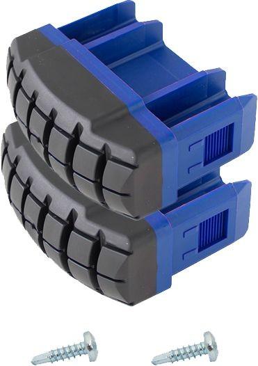 STABILO Fußstopfen (Paar) für Leiternaußenteil der Gelenk-TeleskopLeiter mit Holmverlängerung und PodestLeitern, blau, Artikel-Nr.: 211231