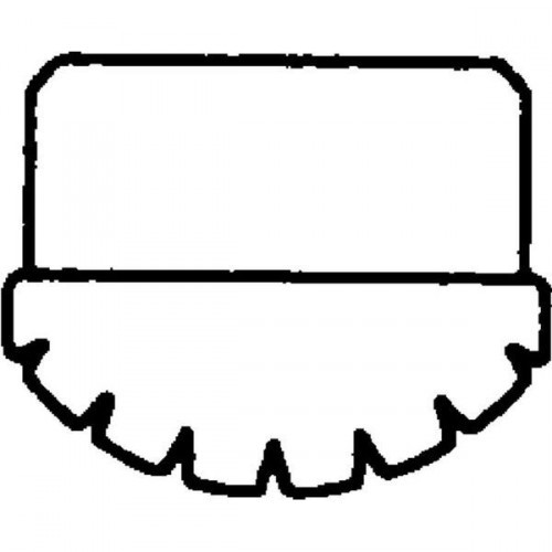 Guenzburger Innenschuh Stahl-Regalleiter grau 50x20, 19613