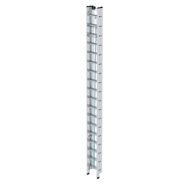 Günzburger Aluminium-Seilzugleiter 3 x 18 Sprossen, 22318