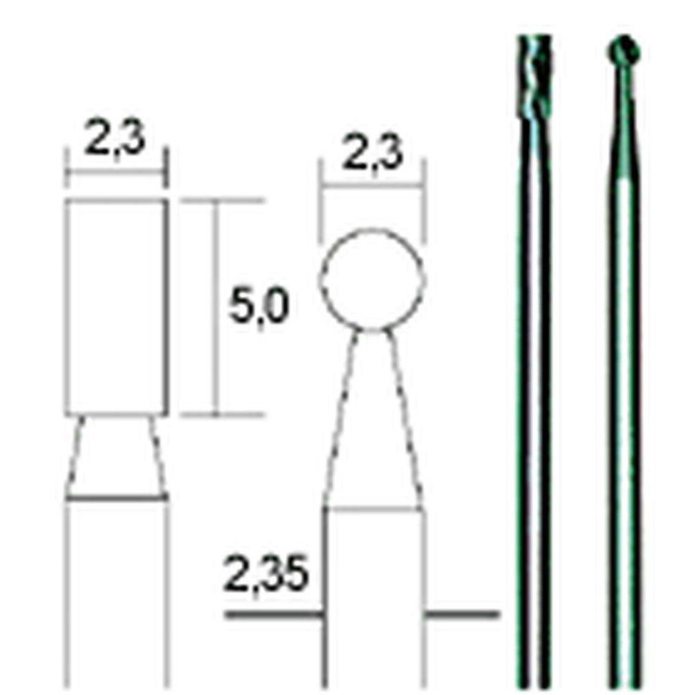 No 28750 PROXXON Hartmetall-Fräsersatz 2-tlg. Zylinder und Kugel