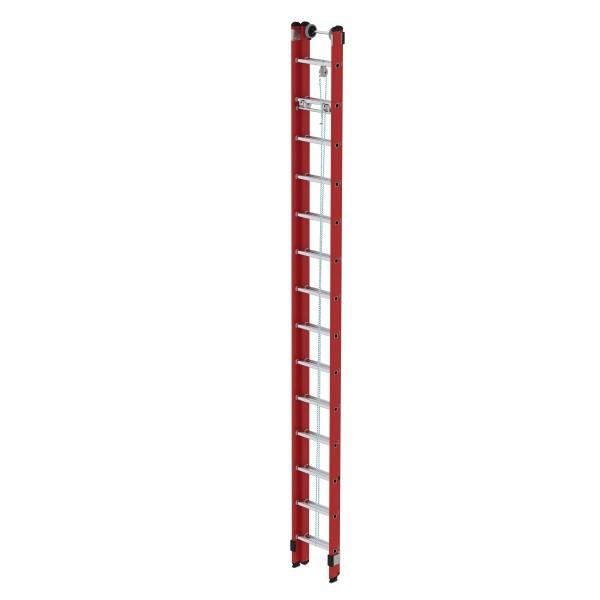 Günzburger Kunststoff-Schiebe- u. Seilzugleiter, 2 x 14 Sprossen, 35214