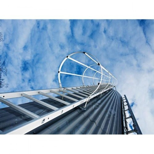 Guenzburger Mehrzuegige Steigleitern mit Rueckenschutz Aluminium blank, 510260