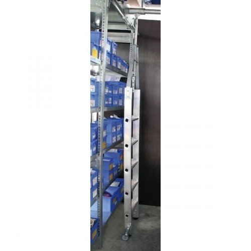 Guenzburger Aluminium-Regalleiter fuer Doppelregal drehbar, 6 Stufen, 44506