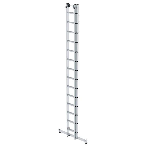 Günzburger Aluminium-Schiebeleiter mit nivello-Traverse 2x14 Sprossen, 20414